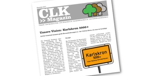 Titelbild des CLK Magazins 2017