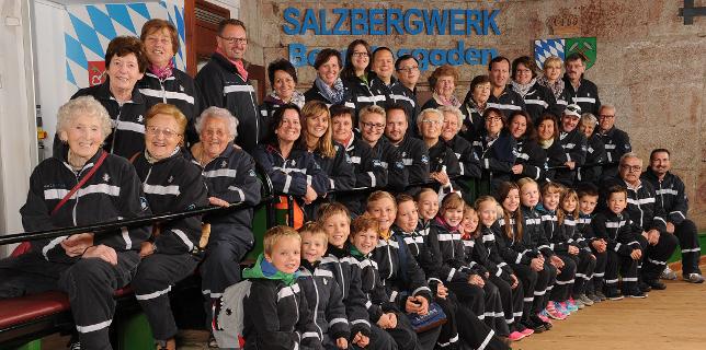 Die CLK-Reisegruppe im Salzbergwerk Berchtesgaden