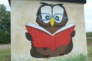 CLK-Ferienpass 2017: So sieht die Bücher lesende Eule zum Schluss aus
