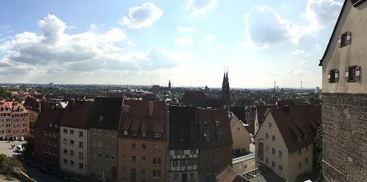 Blick über Nürnberger Altstadt